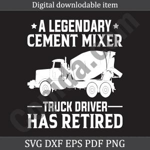 A legendary cement mixer truck driver