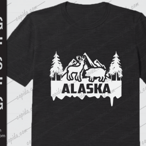 Alaska deer Ice Mountains Forest Hunting