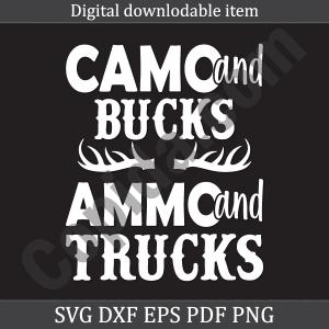 Camo and bucks ammo and trucks