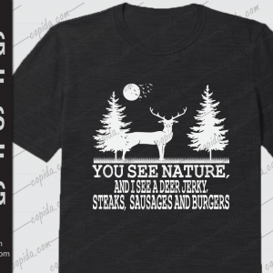You see nature and I see a deer jerky svg