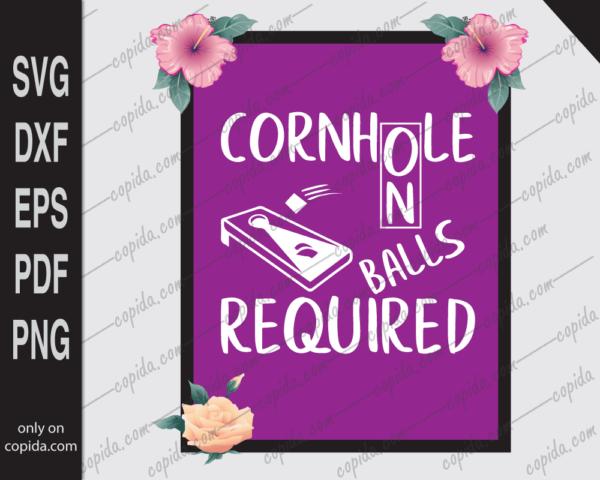 Cornhole on balls required
