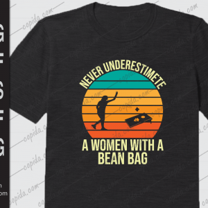 Never underestimate a women with a bean bag